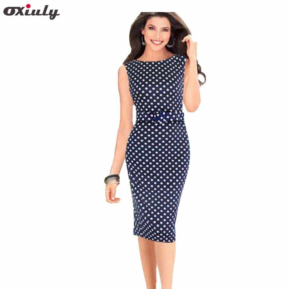 32fcd77a9c Detail Feedback Questions about Oxiuly 5XL Vintage Sheath Dot ...