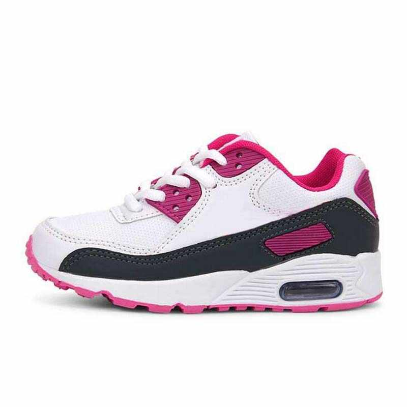 ddb80f2a1fea1 air cushion Children sneakers boys girls brand outdoor sport shoes soft  sole Artificial leather students running