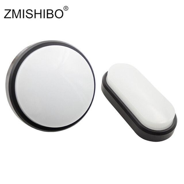 ZMISHIBO LED Round Oval Ceiling Lamp 220V 15W 18W IP54 Waterproof Super Bright Lights Bathroom Porch Bulkhead Lighting Fixtures