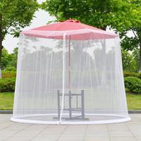 Umbrella Cover Mosquito Netting Screen For Patio Table Umbrella Garden Deck Furniture Zippered Mesh Enclosure Cover Shade Cloth