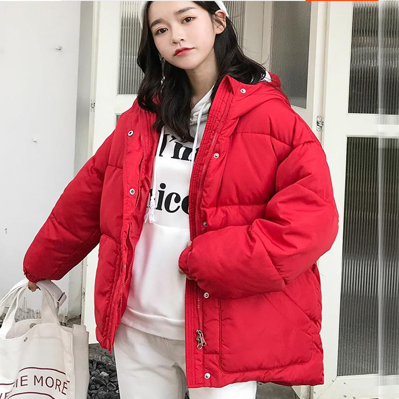 New Winter Women Jackets 2019 Fashion OL   Parka   Hooded Winter Jacket With Belt Loose Coat Women Button Down Jacket Ladies Q958