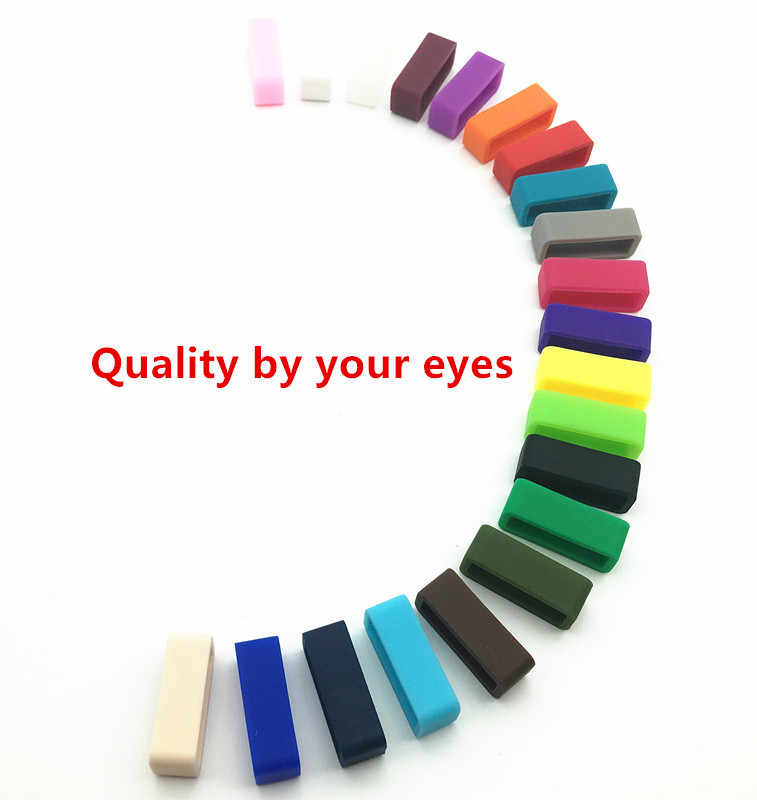 10pcs Watchbands Ring Loop Silicone Rubber Watch Strap Holder Locker Watch Accessories Mutil-colors 14 16 17 18 19 20 22 24 26mm