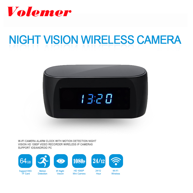 Volemer Z16 HD 1080P Night Vision Wireless WIFI Electronic Clock Camera IP Remotely Monitor P2P CCTV Cam for Home Security