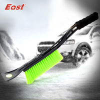 East Winter Green Snow Remover Snow Shovel Brush Removable Ice Scraper Snow Scraper For Car Cleaning
