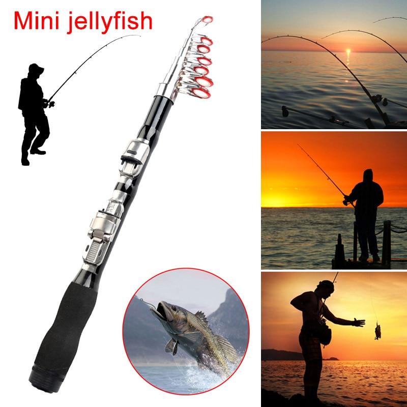 Telescopic Fishing Rod Retractable Travel Spinning Reel Fishing Pole 1m/1.2m/1.5m/1.7m/1.9m/2.1m/2.3m YS-BUY