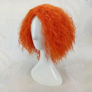 Image 3 - HAIRJOY Mad cappellaio Cosplay parrucca riccia crespa capelli sintetici donna media lunghezza arancione verde parrucche fibra ad alta temperatura