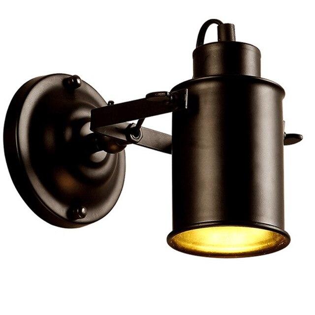 Промышленный настенный светильник в стиле ретро, настенные бра из кованого железа, регулируемый Точечный светильник, винтажный настенный с...