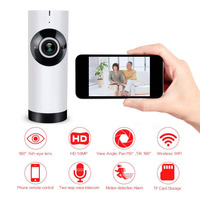 Aliexpress 720P Mini Wireless Home Camera Fisheye Panoramic 180 Degree IP Network Security System With 2