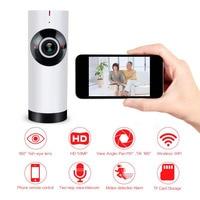 Aliexpress 720P Mini Wireless Home Camera Fisheye Panoramic 180 Degree IP Network Security System With 2