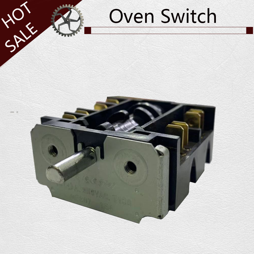 New 360 Degree Rotary  Electrical Power Knob Switch 20A 16A 250V Gear Switch Multi Range Stove Oven Switch