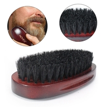 Handmade Combs Mens Boar Hair Bristle Hard Round Wood Handle Makeup Beard Mustache Brush Set Maquiagem