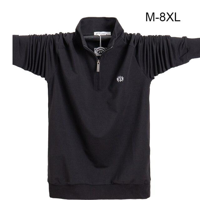 Koszula męska z długim rękawem Plus rozmiar 6XL 7XL 8XL moda męska Business Casual bawełniana koszula męska z długim rękawem Soild skręcić w dół kołnierz