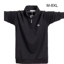 Men Shirt longsleeve Plus size 6XL 7XL 8XL Fashion Men Business Casual Cotton Male Shirt Long Sleeve Soild Turn down Collar