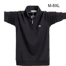 Áo Sơ Mi nam quần dài Plus kích thước 6XL 7XL 8XL Thời Trang Nam Phong Cách Doanh Nhân Cotton Áo Nam Dài Tay Soild Lượt cổ Bẻ