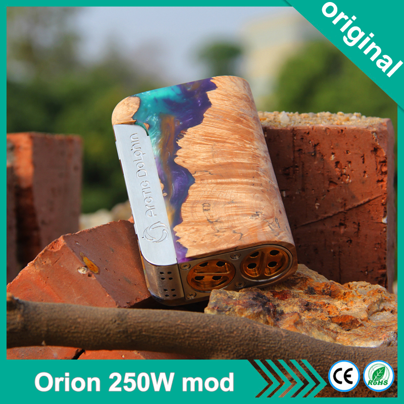 Original Arctic dolphin Orion 250w Box Mod With 0 96inch OLED Screen Support Dual 18650 Battery