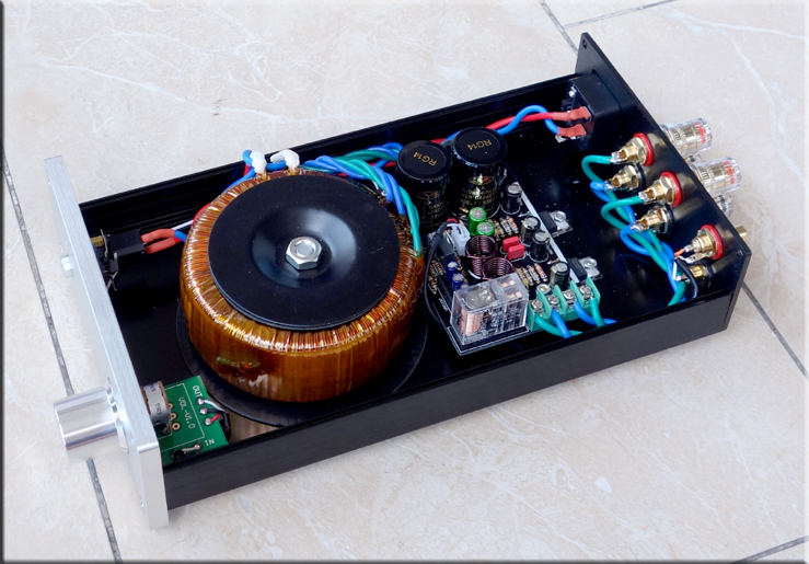 Finished Classic Gaincard LM1875 AMP Amplifier 30WX2 HiFi Stereo Power Amplifier