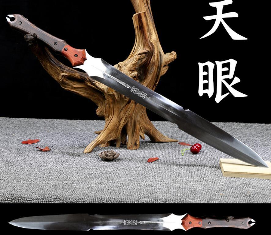 Actief Handgemaakte Chinese Lager Staal Wushu Zwaard Kung Fu Dragon Jian Volledige Tang Mooi Van Kleur