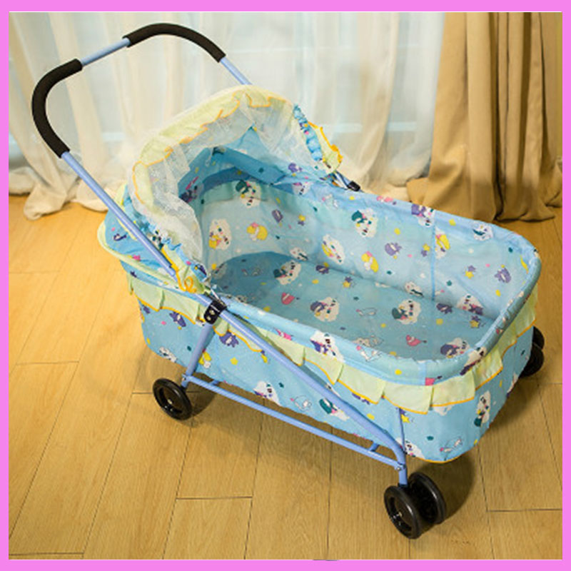 JIMMY Baby Cradle Crib with Wheels Neonatal Hand Push Folding Portable Newborn Baby Crib Netting Set Mobile Bed Baby Cot 0~12 M shiloh 2017 baby newborn crib mobile with musical box