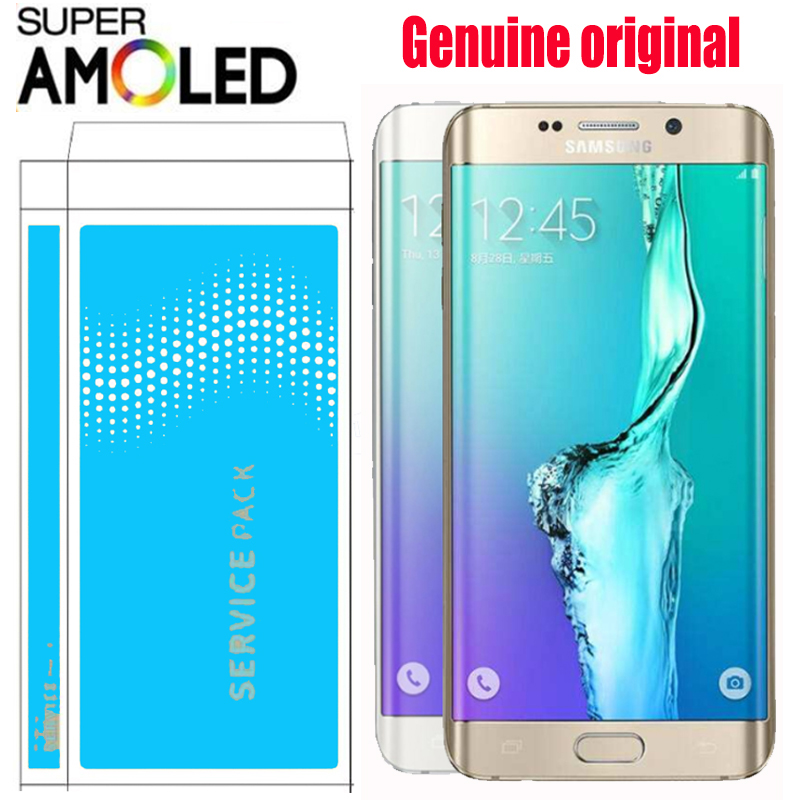 ORIGINAL SUPER AMOLED 5 7 LCD with frame for SAMSUNG Galaxy s6 edge plus Display G928