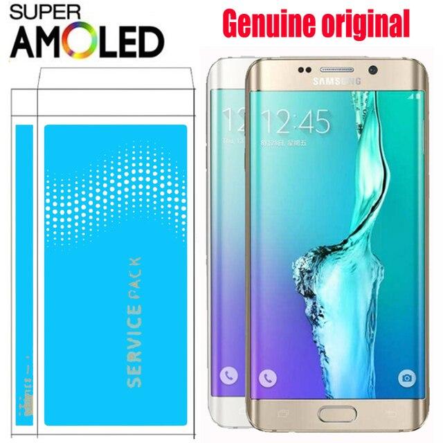 """ORIGINAL SUPER AMOLED 5,7 """"LCD con marco para SAMSUNG Galaxy s6 edge plus pantalla G928 G928F digitalizador de pantalla táctil de la Asamblea"""