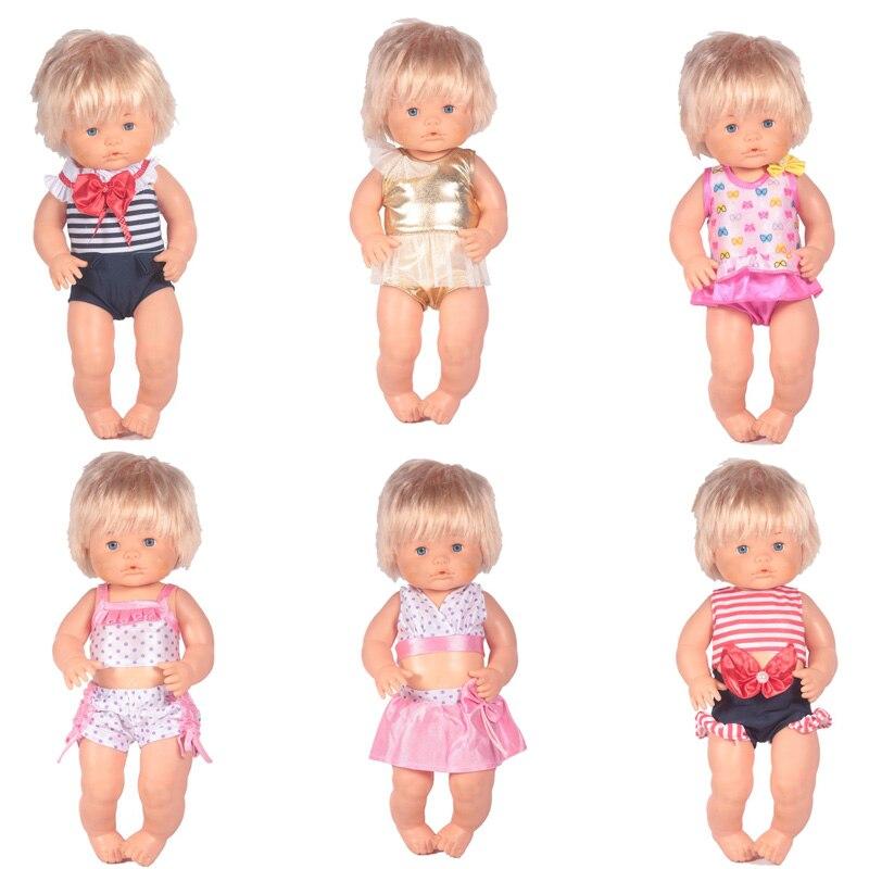 dddc52547f449 Vêtements de poupée Fit 41 cm Nenuco Poupée Nenuco y su Hermanita 6 Styles  maillots de