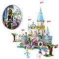 41055 Bloques de Construcción del Castillo de La Princesa Cenicienta Romántica Serie Lepine Arquitectura Castillo Juguetes Compatible legoINGlys Princesa