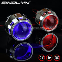 SINOLYN Upgrade Mini 8.0 2.5 H1 HID Bi xenon Projector Lens WST Devil Eyes For Car Motorcycle Headlight Tuning Retrofit H4 H7