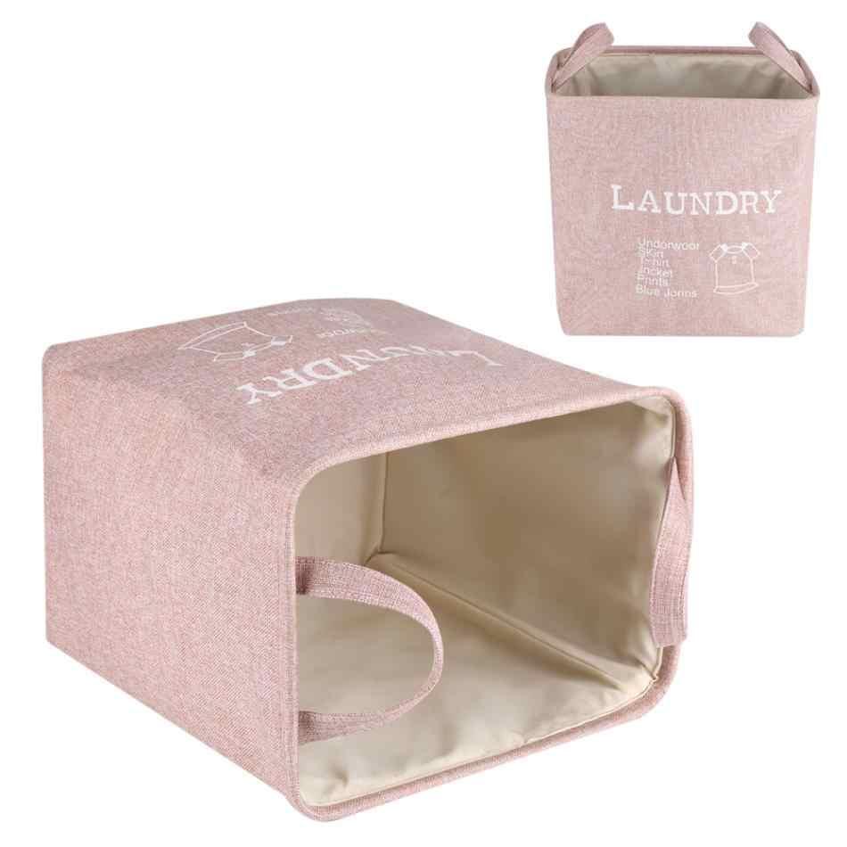 Organizador banheiro À Prova D' Água Caixa De Armazenamento De Tecido Dobrável Cesta Roupas brinquedo Caixa de Meias Gravata Sutiã Lavanderia Toalha Criativo