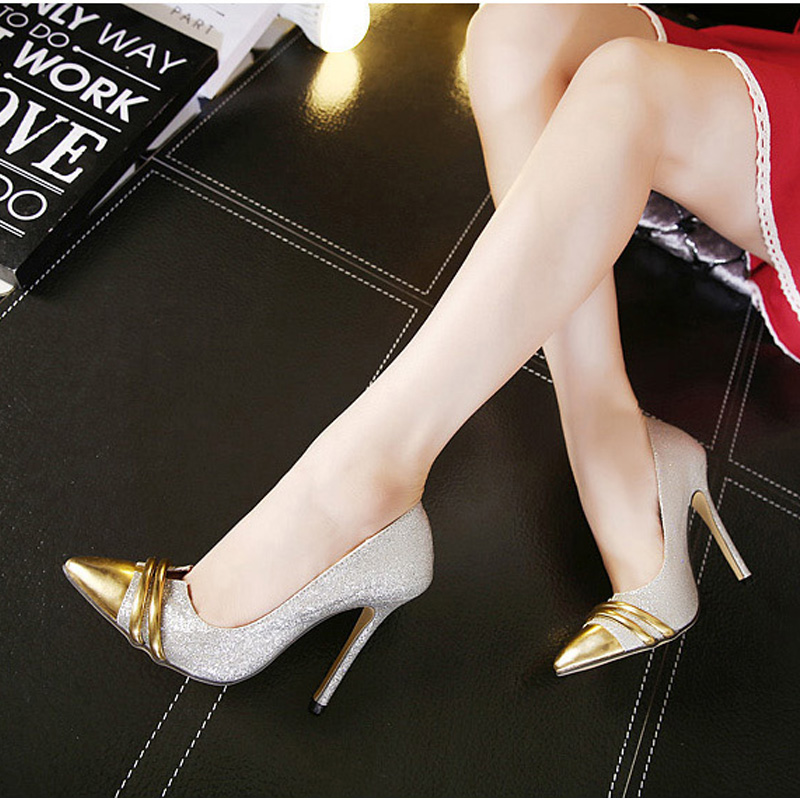 New Vintage Style Thin High Heels font b Women b font Pumps Sexy Pointed Toe Party