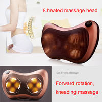 New Arrive Home Car Two Use Vibrating Infrared Heating Massage Waist Cervical Buttocks Massage Electric Neck