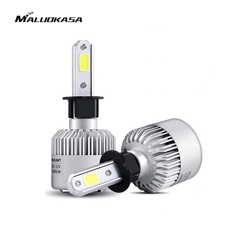 MALUOKASA 2 PCs 8000LM Auto Scheinwerfer S2 H1 H4 H7 LED 72 W H8/H9/H11 9005/ HB3 9006/HB4 H27 LED Lampe 6000 K Weiß für BMW VW Audi
