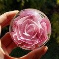Стекло хрустальный шар, Искусственные цветы, Свадебные подарки, Моделирование, Вечная жизнь, Розы, В форме сердца, Многоцветной дополнительно