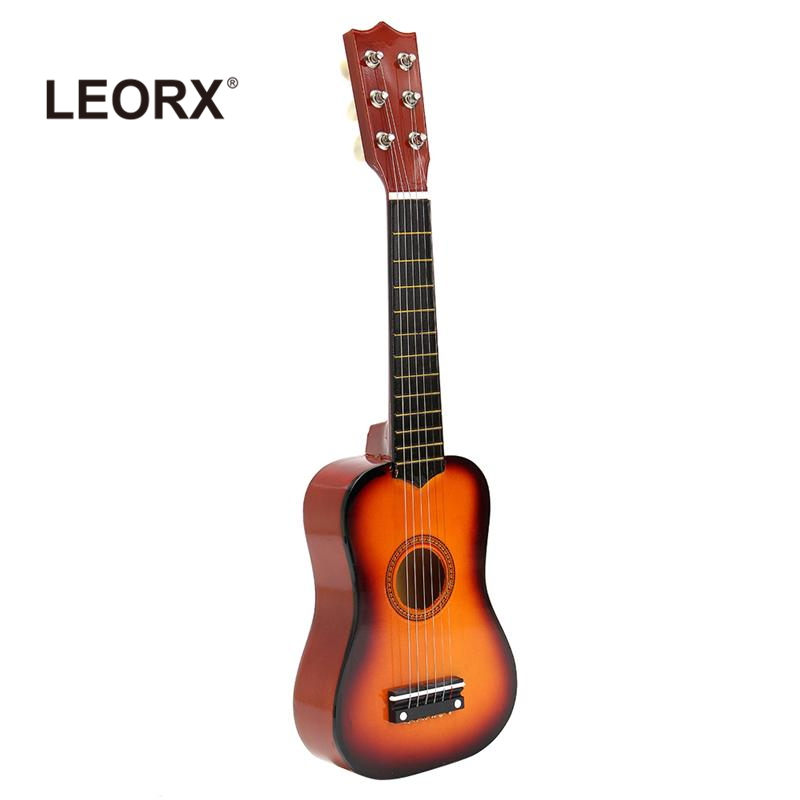 21 Inch Kids Acoustic Guitar Wooden Musical Toy Ukulele Guitar Children Educational Beginners Musical Instruments Birthday Gift children educational wooden trumpet musical toy