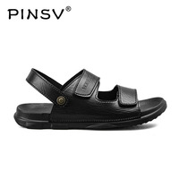2018 Summer Men Sandals Handmade Genuine Leather Slippers Two Way Wear Breathable Beach Shoes Soft Hard