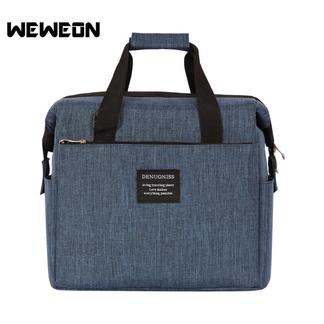 New Design Portable Lunch Bags Insulated Thermal Cooler Lunch Box Tote Outdoor Picnic Storage Bag Food Picnic Bag Meal Prep Bag