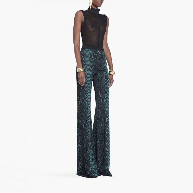 Célébrité Femmes Bandage Arrivée Soirée Partie Bleu Nouvelle Long Qualité Haute 2018 Pantalon Printemps Slim Mode Taille Moulante De marron Fnwqznx4O