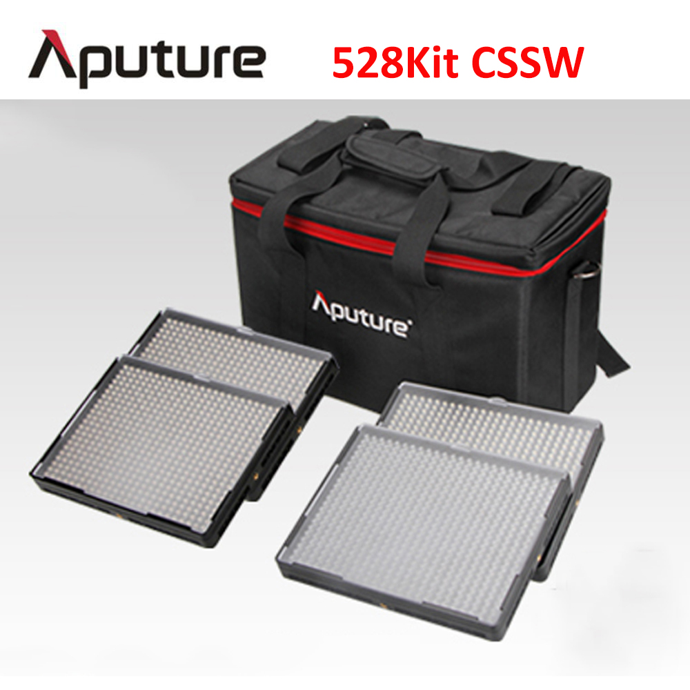 Aputure Amaran LED Video Panel Light set AL-528C+AL-528S+AL-528S+AL-528W 528KIT-CSSW LED Video Camera Light LED Studio light aputure amaran led video camera light set hr672kit led photography light led light hr672ssw kit 3 led video light set