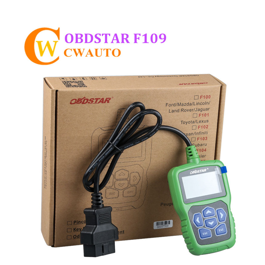 OBDSTAR F109 Key Programmer and Pin Code Calculator Support Odometer Adjustment obdstar f108 psa pin code reading and key programming tool for peugeot citroen ds f108 newly add k line