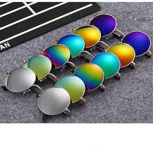 Round Sunglasses Women Men Brand Mirrored Glasses Retro Female Male Sun Glasses Men's Women's
