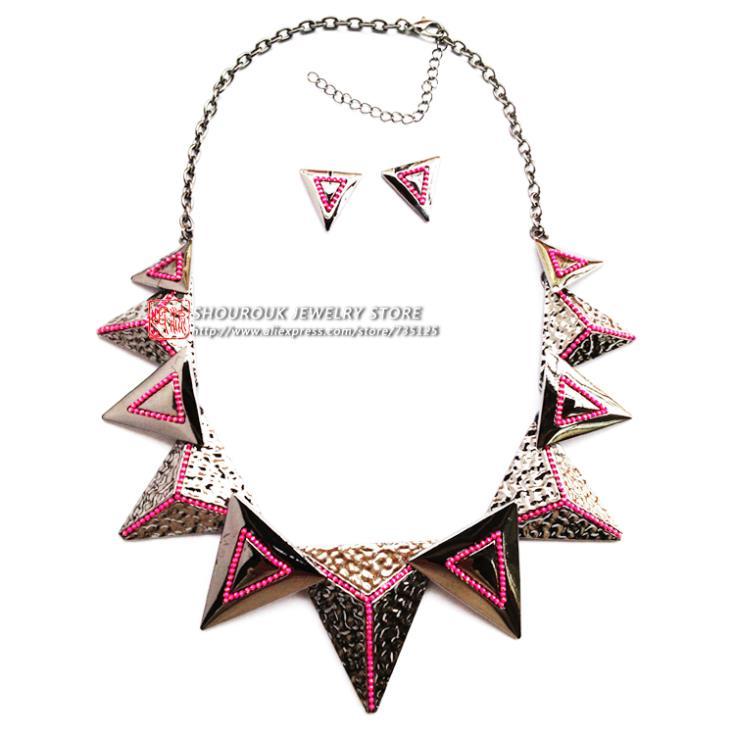 Wholesale Chain chunky Choker statement necklaces fashion metal pendant Necklace 2018 women jewelry set wholesale