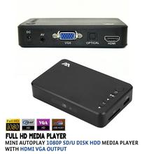 Full HD Media player Mini Autoplay 1080p SD/U Disk HDD USB2.0 External multimedia player With HDMI VGA Output Support H.264 RMVB