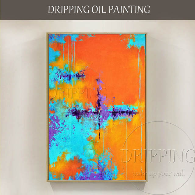 Expert Artist Hand Painted High Quality Colorful Abstract Oil Painting Vivid Colors