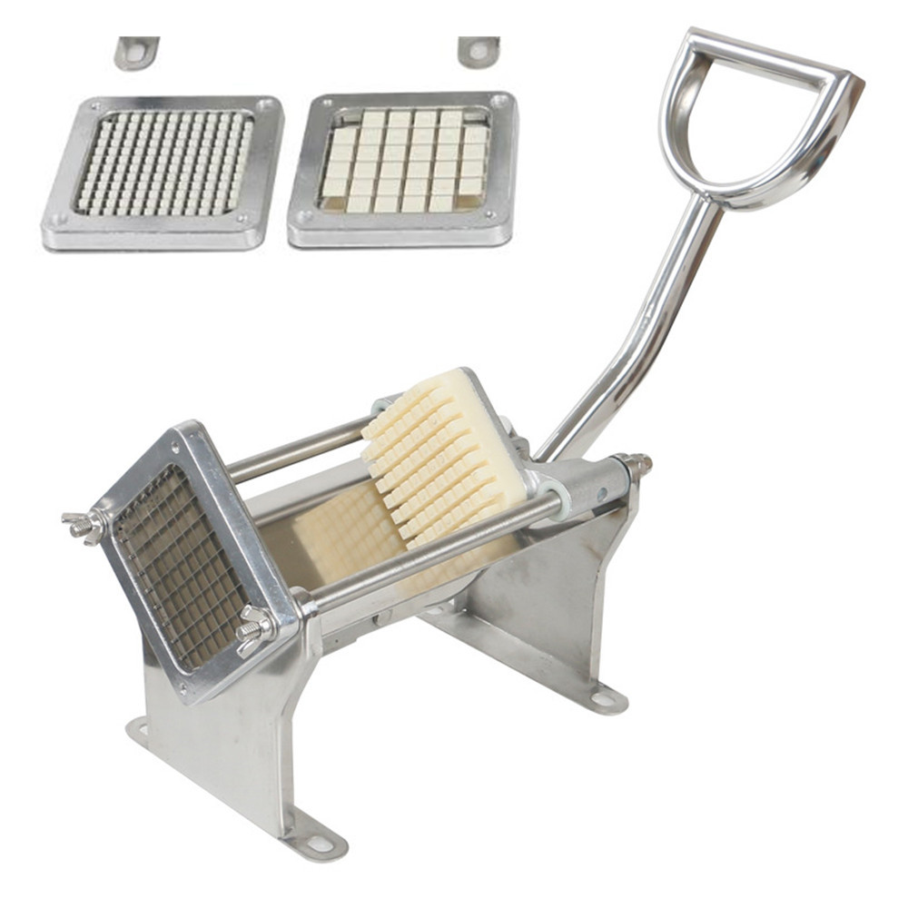 Stainless steel french fry cutter Maker Slicer Dicer Potato vegetable Heavy Duty chips cutting machine radish cucumber potato vegetable diced cutting strip cut grain machine cucumber potato cutting machine manual radish cutting machine