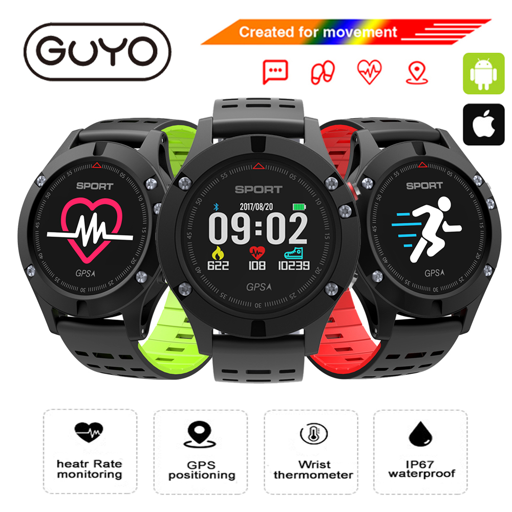 GPS Smart Watch IOS Android Compatible With Heart Rate Monitor Smartwatch Waterproof Fitness Tracker Bluetooth 4.0 for men women