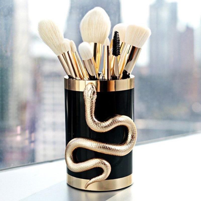 2018 10Pcs Professional Makeup Brushes Set Eye Shadow Eyebrow Lip Foundation Make Up Brush Kit Tools