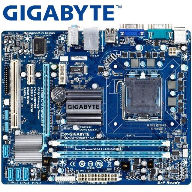 GIGABYTE GA-G41MT-S2P рабочего Материнская плата G41 разъем LGA 775 для Core 2 DDR3 8G mикро ATX оригинальная б/у G41MT-S2P материнская плата