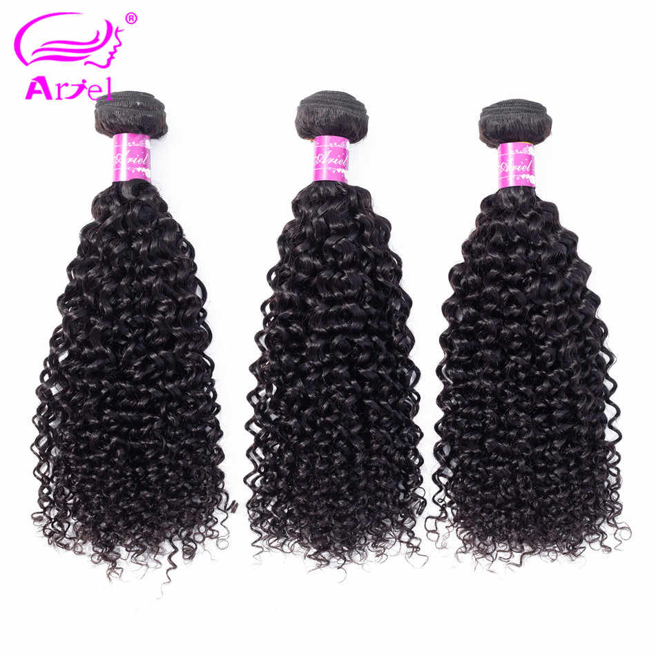 Ariel Kinky Curly Hair Bundles Brazilian Hair Weave Bundles Curly Human Hair 3 Bundles NonRemy 28 30 Inch Bundles Hair Extension