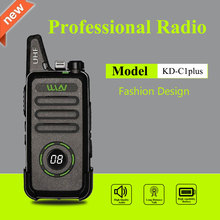WLN KD C1 Plus Mini Walkie Talkie UHF 400 470 MHz con 16 canales, Radio bidireccional, transceptor FM, KD C1plus