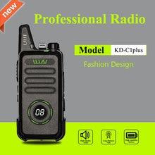 WLN KD C1 בתוספת מיני ווקי טוקי UHF 400 470 MHz עם 16 ערוצים שתי דרך רדיו FM משדר KD C1plus