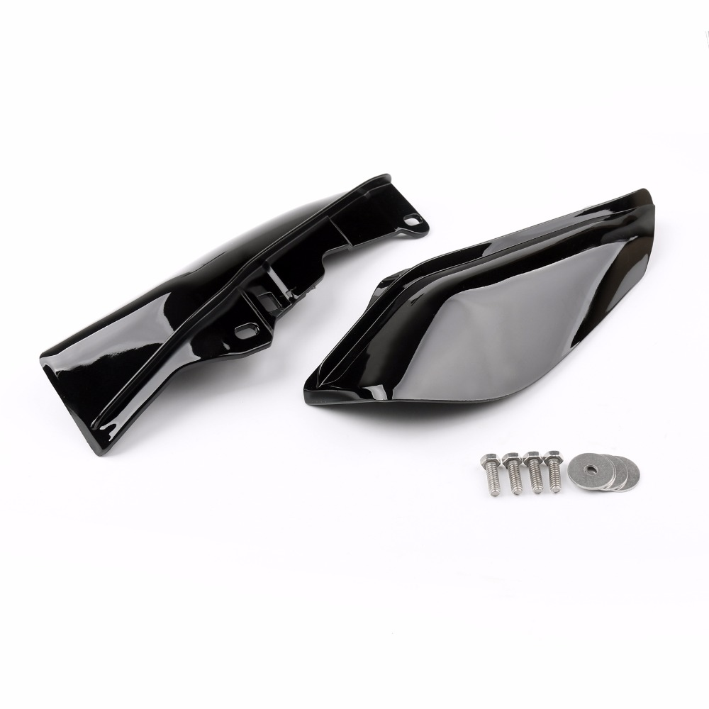Areyourshop Motorcycle Mid-Frame Air Heat Deflector Trim Accents Shield For Harley Touring Street Glide 1997-2013 Motor Covers areyourshop windshield bag saddle 3 pouch pocket fairing for harley touring bike 1996 2015 black motorcycle covers